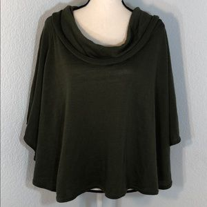 Christopher&Banks Olive Green Cowl Neck Sweater